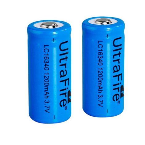 2 batterie ricaricabili 16340
